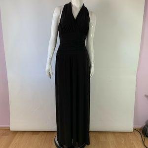 Nine West Black Maxi Dress sleeveless Halter
